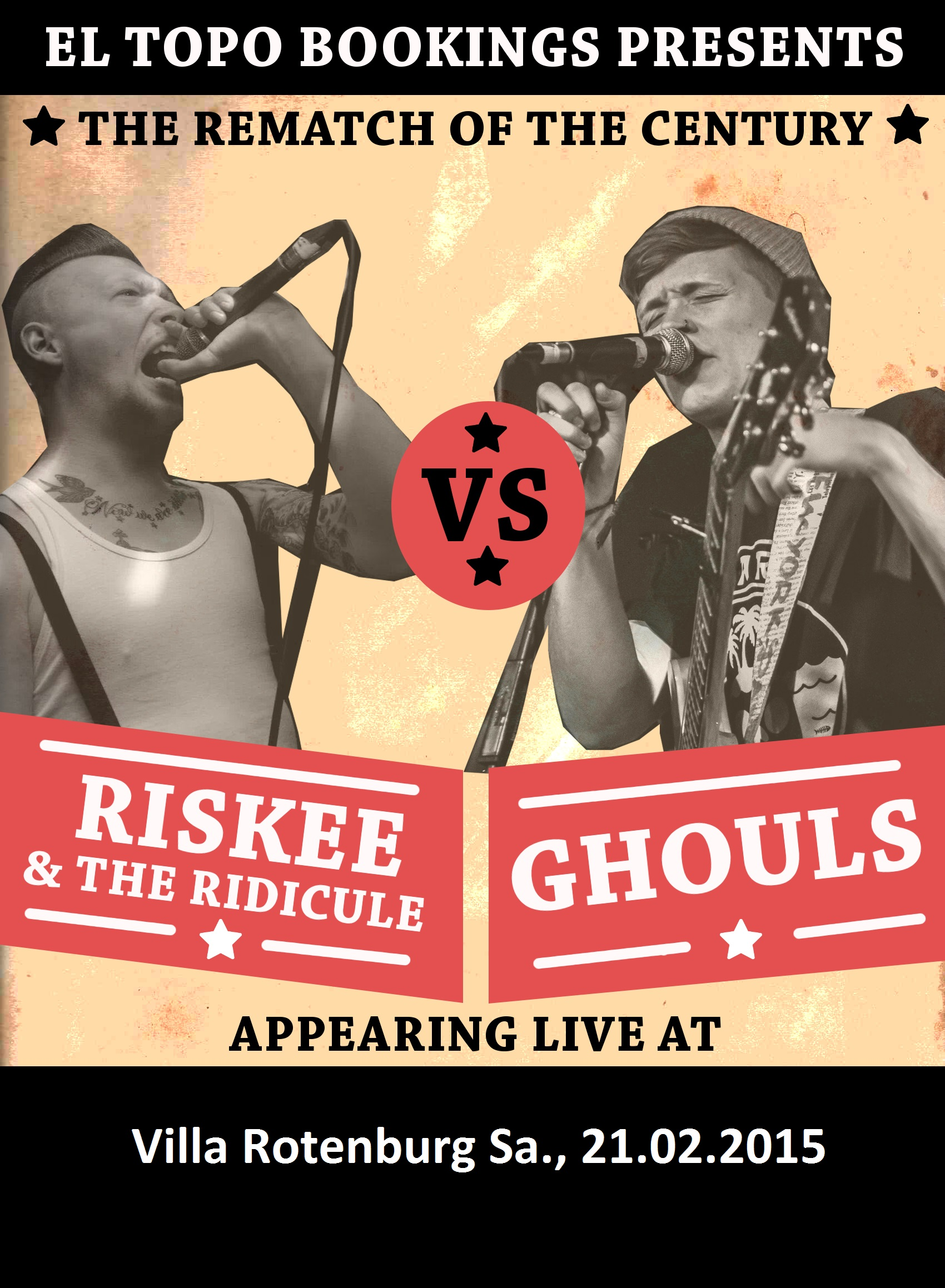 Ghouls (Punkrock, Ska, Gypsy, UK), Riskee And The Ridicule (Grime, Hip-Hop, Punk, UK)